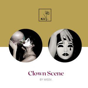 Clown Scene by MissV